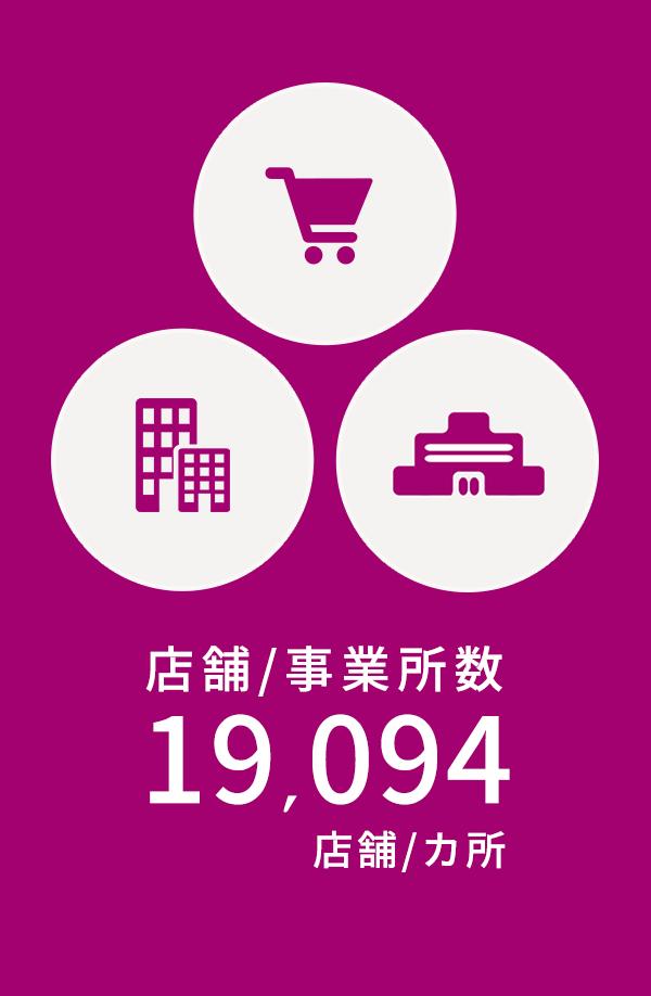 店舗/事業所数 19,094店舗/ヵ所